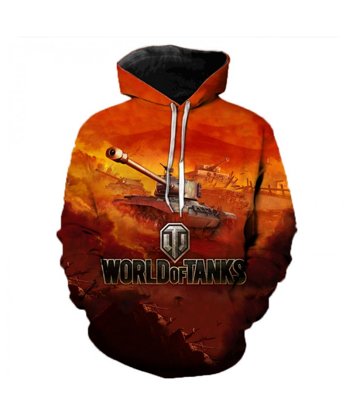 World of Tanks 3D Printed Hooded Sweatshirts Men Popular Games Casual Tops Pullover Women Hip Hop Streetwear Oversized Hoodies
