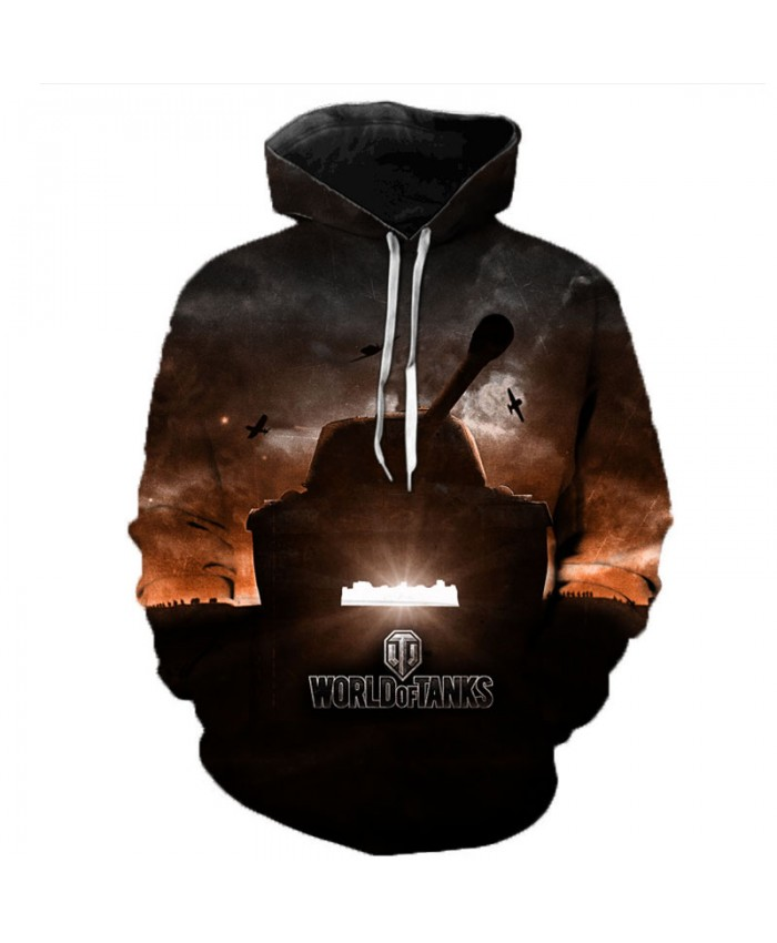 World of Tanks 3D Printed Hooded Sweatshirts Men Popular Games Casual Tops Pullover Women Hip Hop Streetwear Oversized Hoodies A
