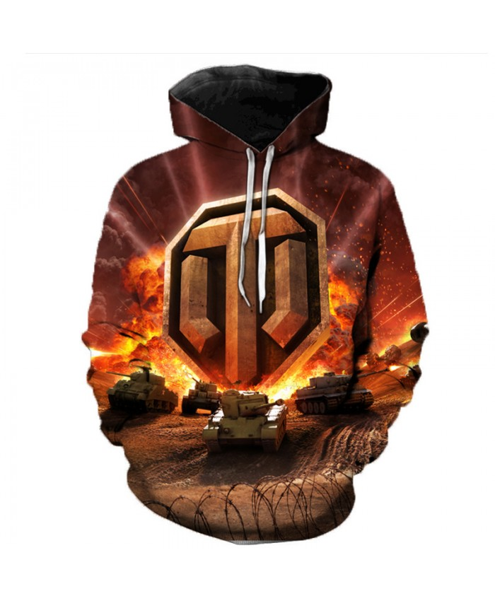 World of Tanks 3D Printed Hooded Sweatshirts Men Popular Games Casual Tops Pullover Women Hip Hop Streetwear Oversized Hoodies B