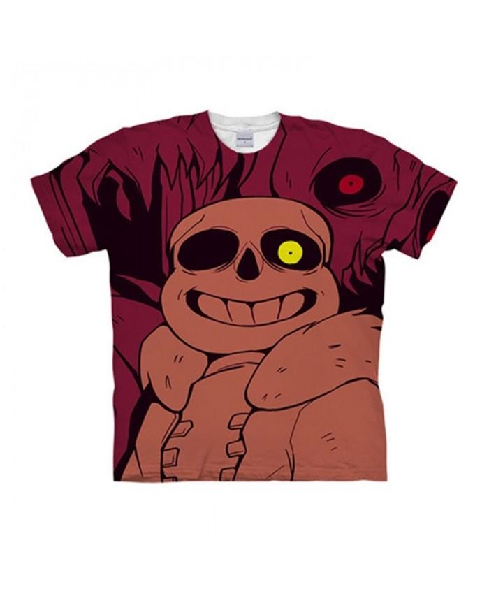 Yellow Eyeball Undertale 3D Print Men tshirt Crossfit Shirt Casual Summer Short Sleeve Male tshirt Fitness Tops&Tee