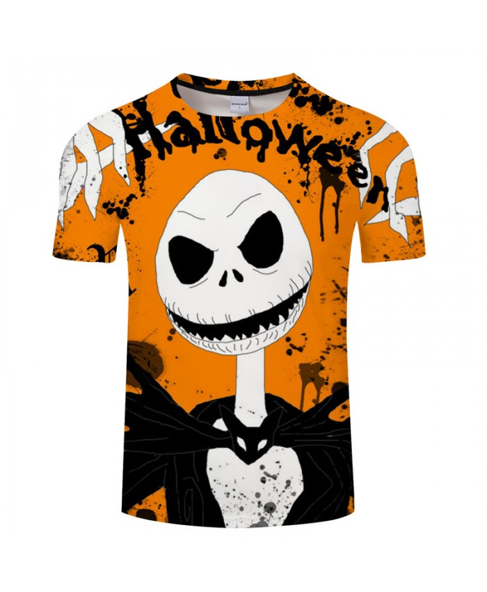 Yellow Halloween 3D Print T shirt Men T-shirts Brand Tops Tee Streetwear Summer Short Sleeve tshirt O-neck Drop Ship