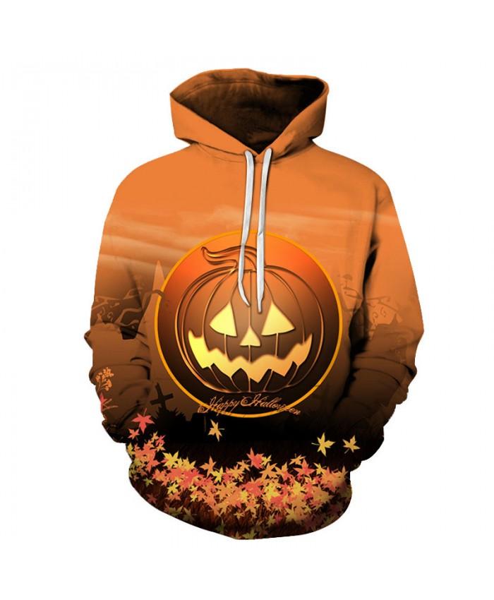 Yellow Pumpkin 3D Hoodies Men Hoody Harajuku Hoodie Streatwear Sweatshirt Tracksuit Pullover Coat Hip Hop Dropship