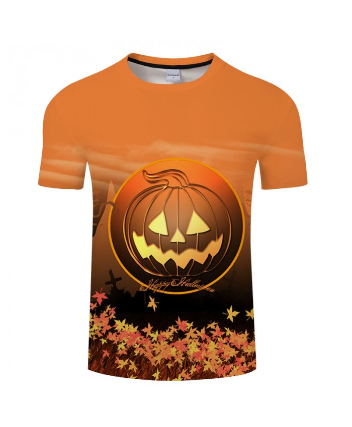 Yellow Pumpkin 3D Print T shirts Men T-shirts Brand Tops Tee Streetwear Summer Short Sleeve tshirt O-neck Drop Ship