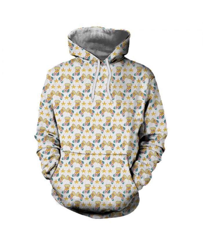 Yellow Sock Christmas Hoodies 3D Sweatshirts Men Women Hoodie Print Couple Tracksuit Hooded Hoody Clothing