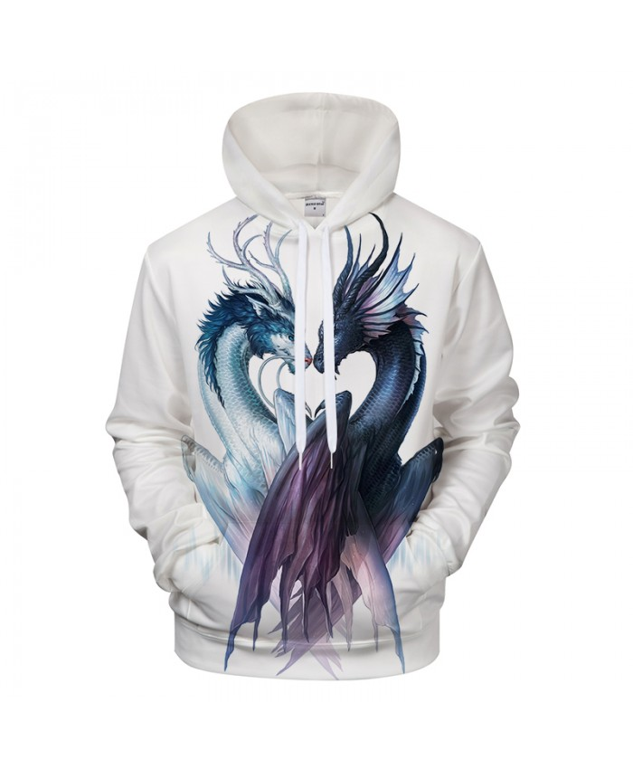 Yin and Yang Dragon by JojoesArt Hoodies 3D Men Women Sweatshirts Brand Pullover Hot Sale Casual Tracksuits Drop