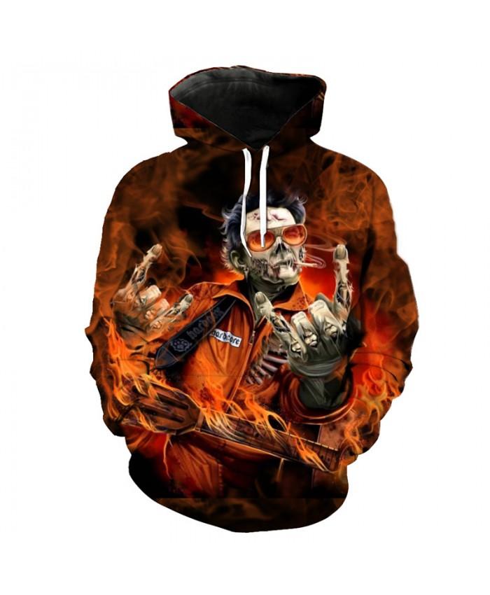 Zombie Dancer Men's Hoodie Skull Style Hip-hop Street Sweatshirt Pullover Tracksuit Pullover Hooded Sweatshirt